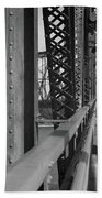 Route 66 - Chain Of Rocks Bridge Beach Towel
