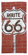 Route 66 Shield Beach Towel