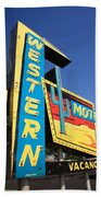 Route 66 - Western Motel Beach Towel