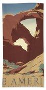 See America Poster, C1937 Beach Towel