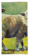 Sheep Painting Beach Towel