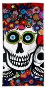 3 Skulls Beach Towel