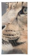 Snow Leopard Beach Towel