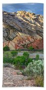 Spring Storm Over Split Mountain Dinosaur National Monument Beach Towel