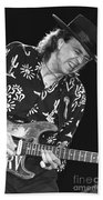 Guitarist Stevie Ray Vaughan Beach Towel