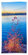 Sunset At Lake Wylie Beach Towel