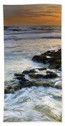 Sunset At The Mediterranean Sea Beach Towel