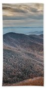 Sunset View Over Blue Ridge Mountains Beach Towel