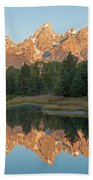 The Grand Tetons Schwabacher Landing Grand Teton National Park Beach Towel