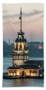 The Maiden's Tower Beach Towel