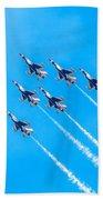 Thunderbirds And Blue Sky  Beach Towel