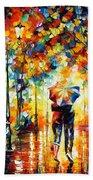 Under One Umbrella Beach Towel by Leonid Afremov