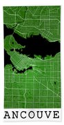 Vancouver Street Map - Vancouver Canada Road Map Art On Colored  Beach Towel