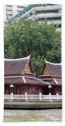 View From Chao Phraya River In Bangkok Beach Towel