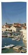 View Of Dubrovnik In Croatia Beach Towel