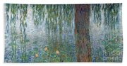 Waterlilies Morning With Weeping Willows Beach Sheet