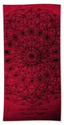 Wave Particle Duality Beach Towel by Jason Padgett