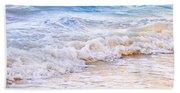 Waves Breaking On Tropical Shore Beach Towel