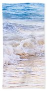 Waves Breaking On Tropical Shore Beach Towel by Elena Elisseeva