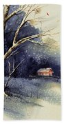 Winter Tree Beach Towel