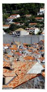 Views Of Dubrovnik Croatia Beach Towel