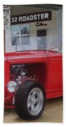 32 Ford At Filling Station Beach Towel