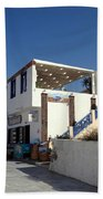 Views Of Santorini Greece Beach Towel