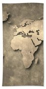World Map Beach Towel