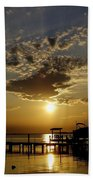 An Outer Banks Of North Carolina Sunset Beach Towel