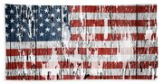 American Flag 49 Beach Sheet