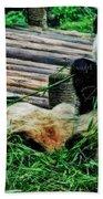 3722-panda -  Acanthus Sl Beach Towel