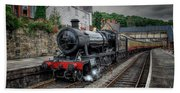 3802 At Llangollen Station Beach Towel