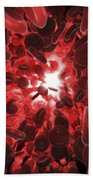 Red Blood Cells Beach Towel