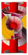 3d Abstract 18 Beach Towel by Angelina Vick
