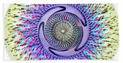 3d Abstract - Use Red_cyan 3d Glasses Beach Towel