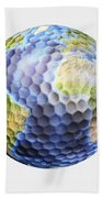 3d Rendering Of A Planet Earth Golf Beach Towel