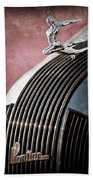 1935 Pontiac Sedan Hood Ornament Beach Towel