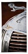 1938 Dodge Ram Hood Ornament Beach Towel