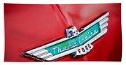1956 Ford Thunderbird Emblem Beach Towel