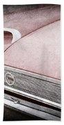 1960 Ford Galaxie Starliner Taillight Emblem Beach Towel