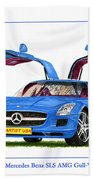 2010 Mercedes Benz S L S Gull-wing Beach Towel