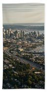 Aerial View Of Seattle Beach Towel