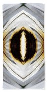 African Moon Abstract Beach Towel