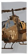 An Ah-1s Tzefa Attack Helicopter Beach Towel