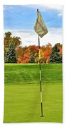 Autumn Golf Beach Towel