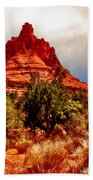 Bell Rock Vortex Painting Beach Towel