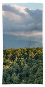 Blue Ridge Parkway Scenic Mountains Overlook Summer Landscape Beach Towel