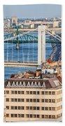 Budapest Cityscape Beach Sheet