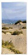 Caleta De Famara Beach On Lanzarote Beach Towel