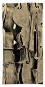 4 Cellos Sepia Beach Towel